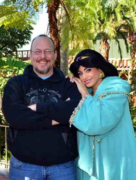 Walt Disney World, Magic Kingdom, Characters, Valentines Day, Aladdin and Jasmine
