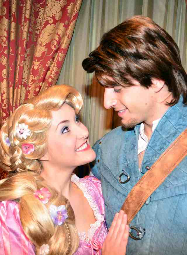 Walt Disney World, Magic Kingdom, Characters, Valentines Day, Rapunzel and Flynn Rider