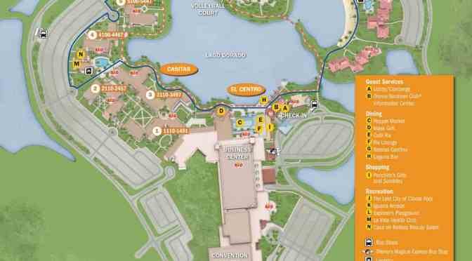 Coronado Springs Resort Map - KennythePirate.com