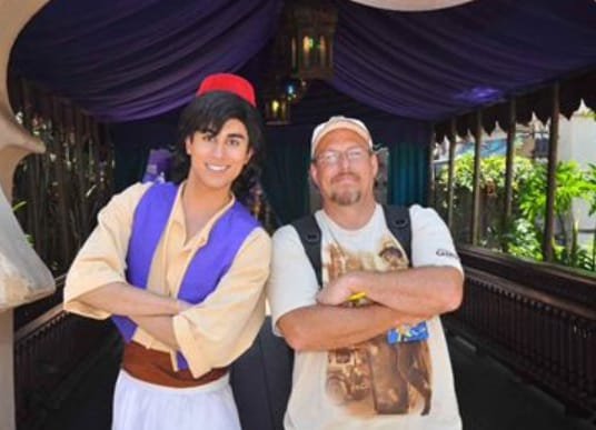 aladdin Disneyland Character Meet and Greet 2012