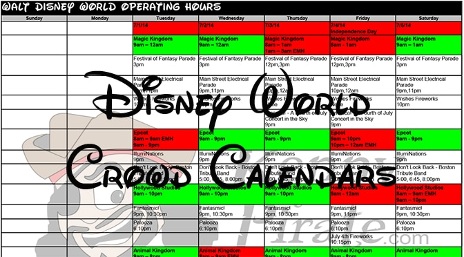 Disney World Crowd Calendar 2018 L When To Visit Disney World