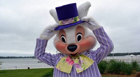 Easter Contemporary Resort meet and greets Easter Bunny
