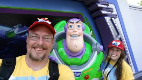 Buzz Lightyear in the Magic Kingdom