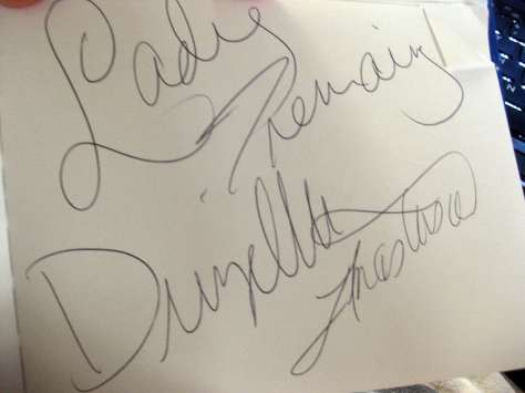 Tremaine Family autograph