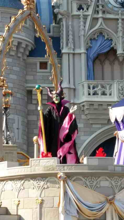Maleficent in in Magic Kingdom in Walt Disney World