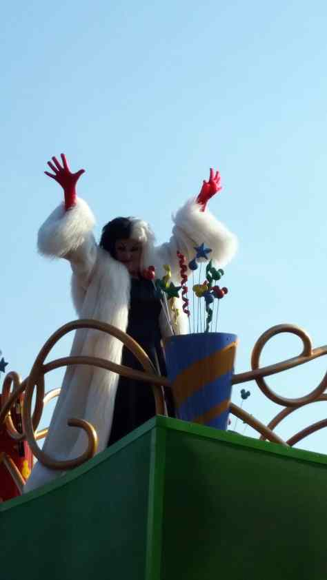 Move it Shake it Celebrate it with Cruella de Vil in Magic Kingdom in Walt Disney World