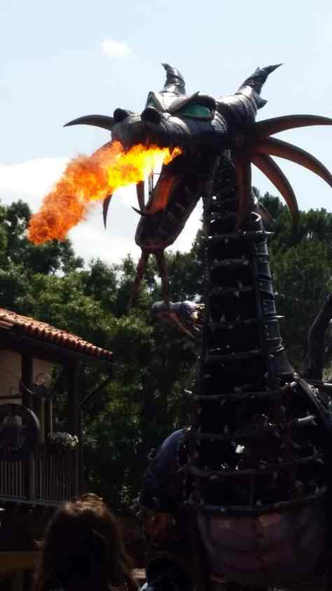 Dragon in Festival of Fantasy Parade in Magic Kingdom