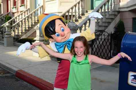 Pinocchio at Character Palooza at Hollywood Studios