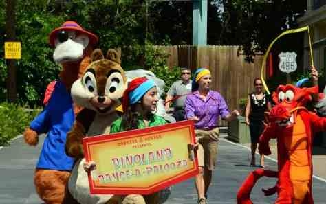 Animal Kingdom Dinoland Dance a Palooza dance party