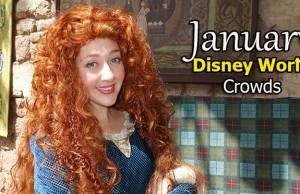 January 2021 Disney World Crowd Calendar