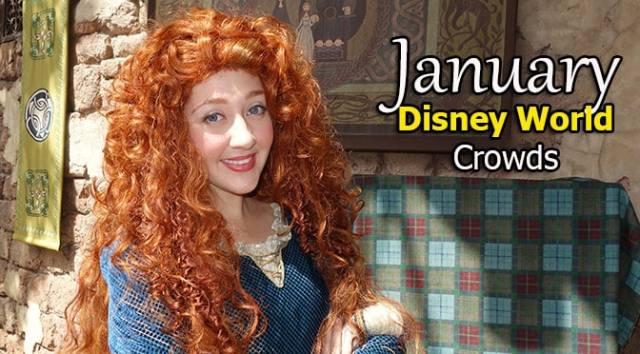 January 2021 Disney World Crowd Calendar