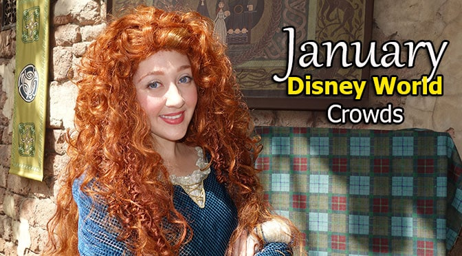 January 2020 Disney World Crowd Calendar