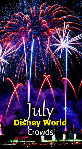 Disney World Crowd Calendar July 2018