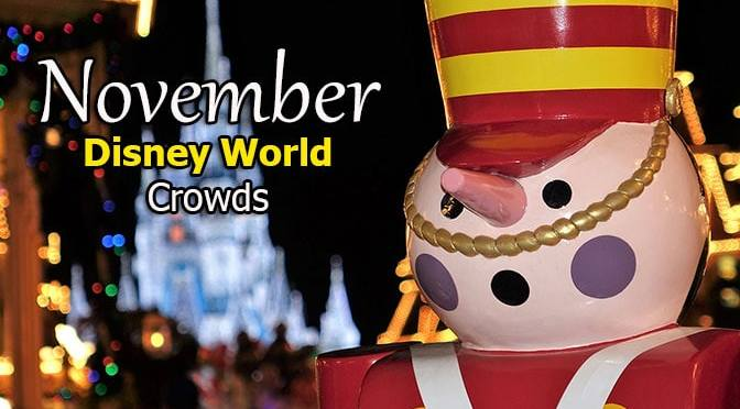 Disney World Crowd Calendar November 2018