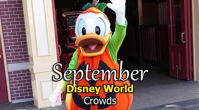 Disney World Crowd Calendar September 2019