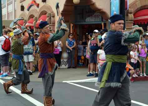 Anna and Elsa's Royal Welcome Parade featuring Kristoff at Hollwood Studios in Disney World