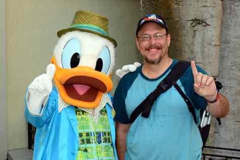 Disney's Hollywood Studios meet and greet Donald Duck
