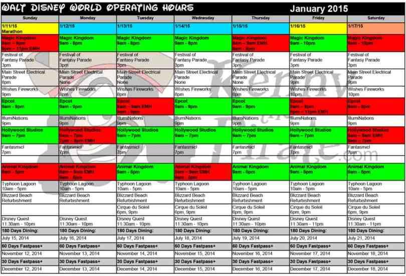 January disney world crowd calendar park hours kennythepirate 3 Busch gardens crowd calendar