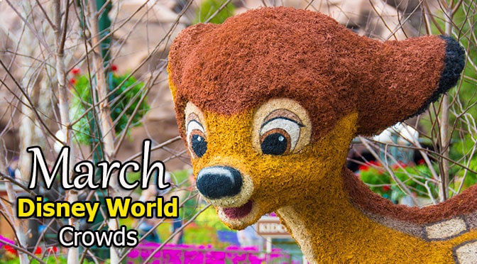 Disney World Crowd Calendar March 2019