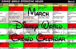 Disney World Crowd Calendar March 2018