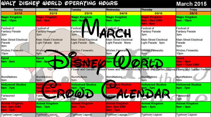 March disney world crowd calendar park hours kennythepirate header Busch gardens crowd calendar