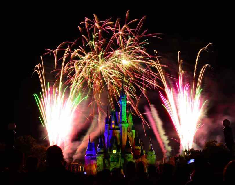 Wishes Fireworks at the Magic Kingdom in Disney World August 2014