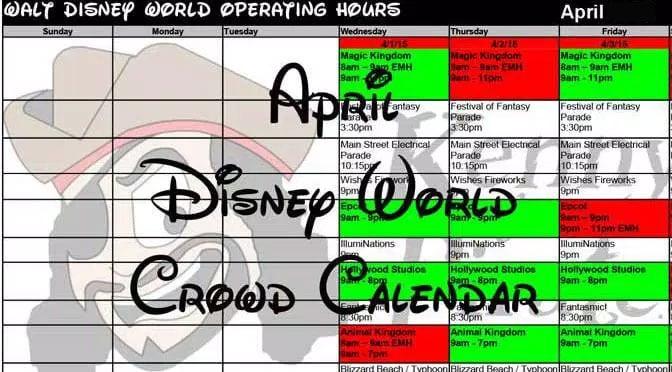 April 2017 Disney World Crowd Calendar, Park Hours and Extra Magic ...