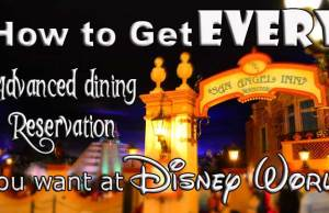 How to book Disney World Dining Reservations
