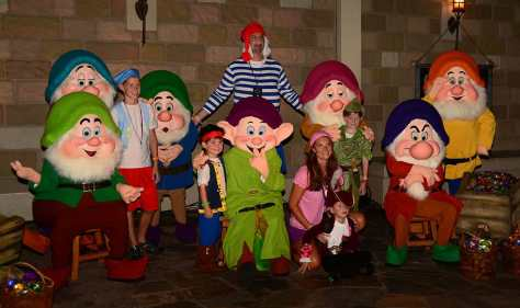 Mickey's Not So Scary Halloween Party 2014 Seven Dwarfs