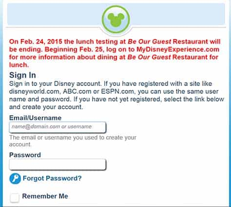 be our guest lunch fastpass ending