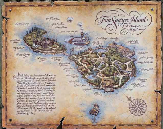 tom sawyer island map
