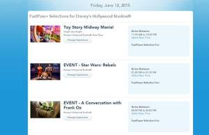 Star Wars Weekends Fastpass for Shows including Frank Oz