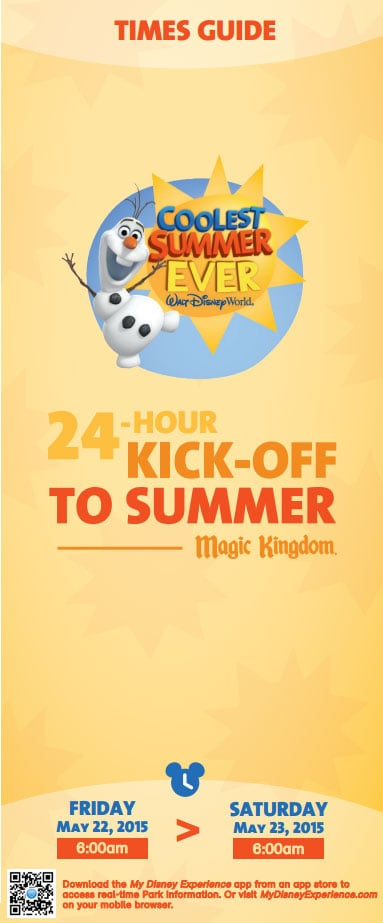 Magic Kingdom 24 hour party coolest summer ever times guide front