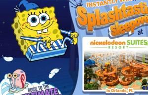 Nickelodeon Hotel Spongebob Squarepants Splashtastic Sweepstakes