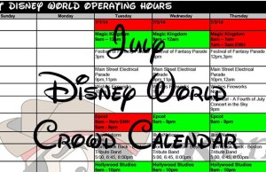 Disney World Crowd Calendar July 2017