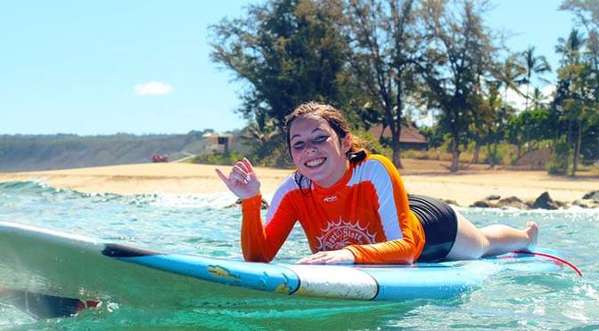 Surf Lesson with North Shore Surf Girls in Oahu Hawii