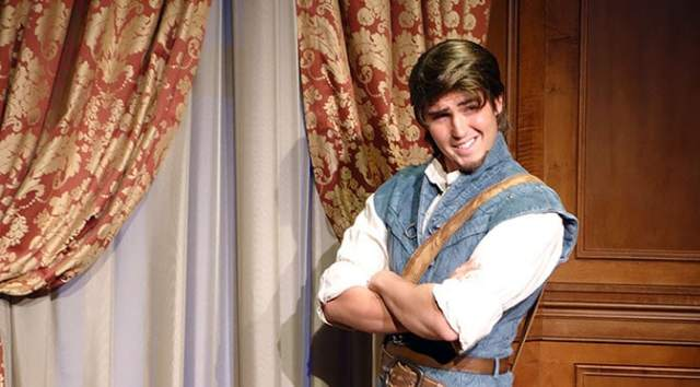 Flynn Rider Play Test in Fantasyland in Walt Disney World Magic Kingdom kennythepirate