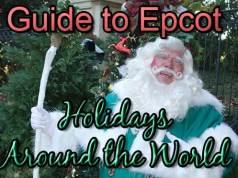 Epcot Holdays Around the World Guide with Storytellers Schedule and Plan wide