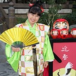 Japan Daruma Vendor Storyteller for Epcot's Holdays Around the World