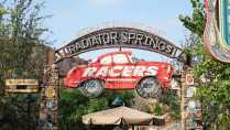 Radiator Springs Racers Entrance sign