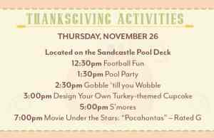 thanksgiving activities at Disney World Old Key West Resort