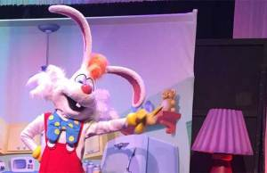 Roger Rabbit appearing at Disneyland