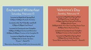 Saratoga Springs Valentines Activities