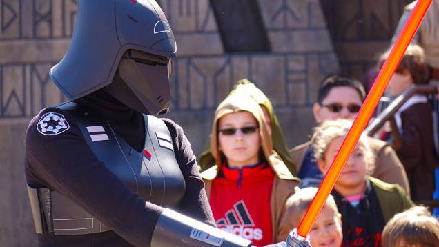 Seventh Sister in Jedi training at Hollywood Studios