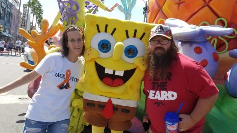 Universal Orlando Character Day with Ryan and Heather April 2016 (46) Spongebob Squarepants