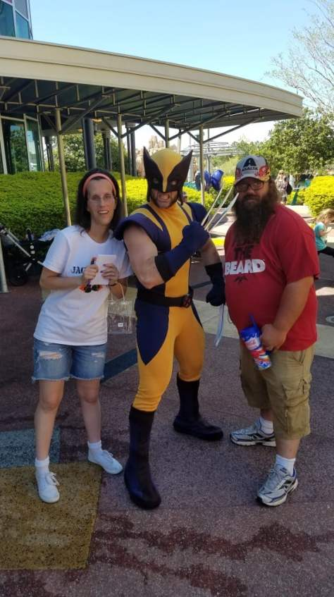 Universal Orlando Character Day with Ryan and Heather April 2016 (66) Wolverine