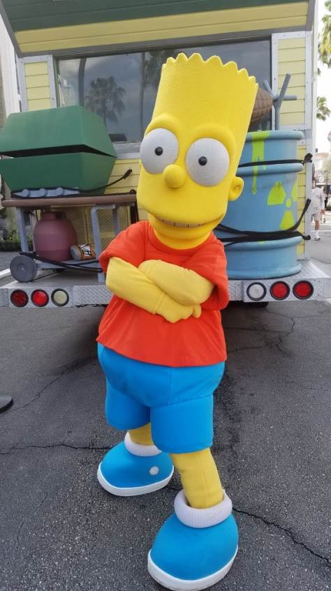 Universal Orlando Character Day with Ryan and Heather April 2016 (7) Bart Simpson