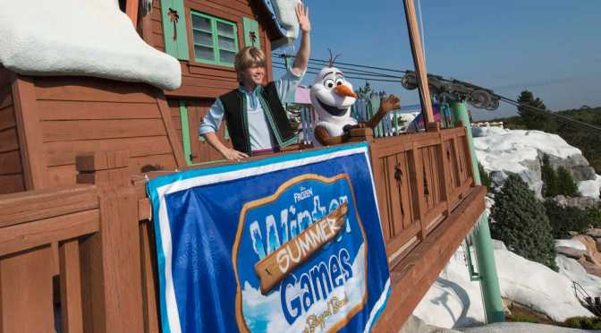 "Olaf and Kristoff are almost ready for the ""Frozen games"""
