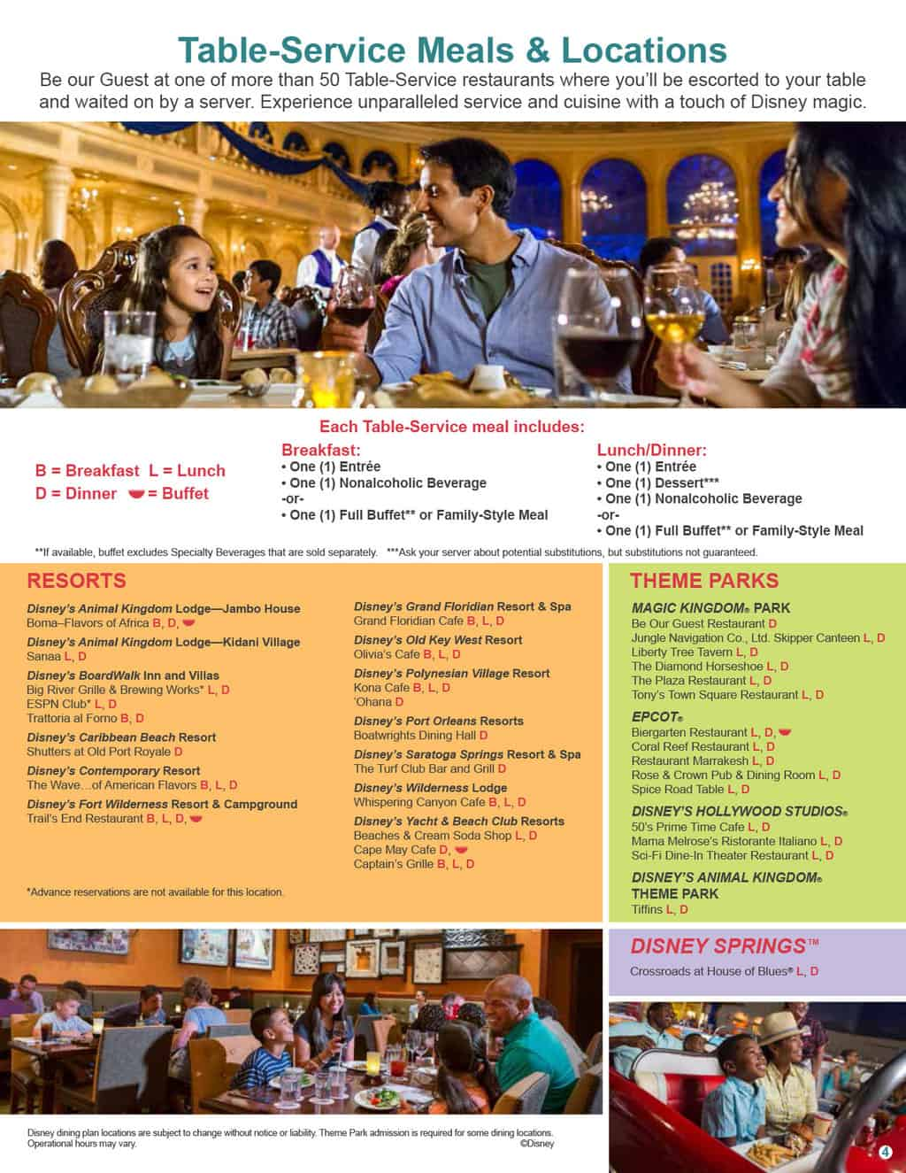 Free disney dining plan 2016 dates -  2017 Disney Dining Plan 4