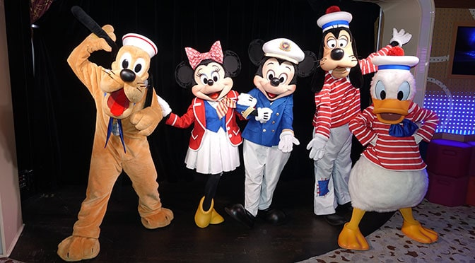 Characters on board the Disney Fantasy
